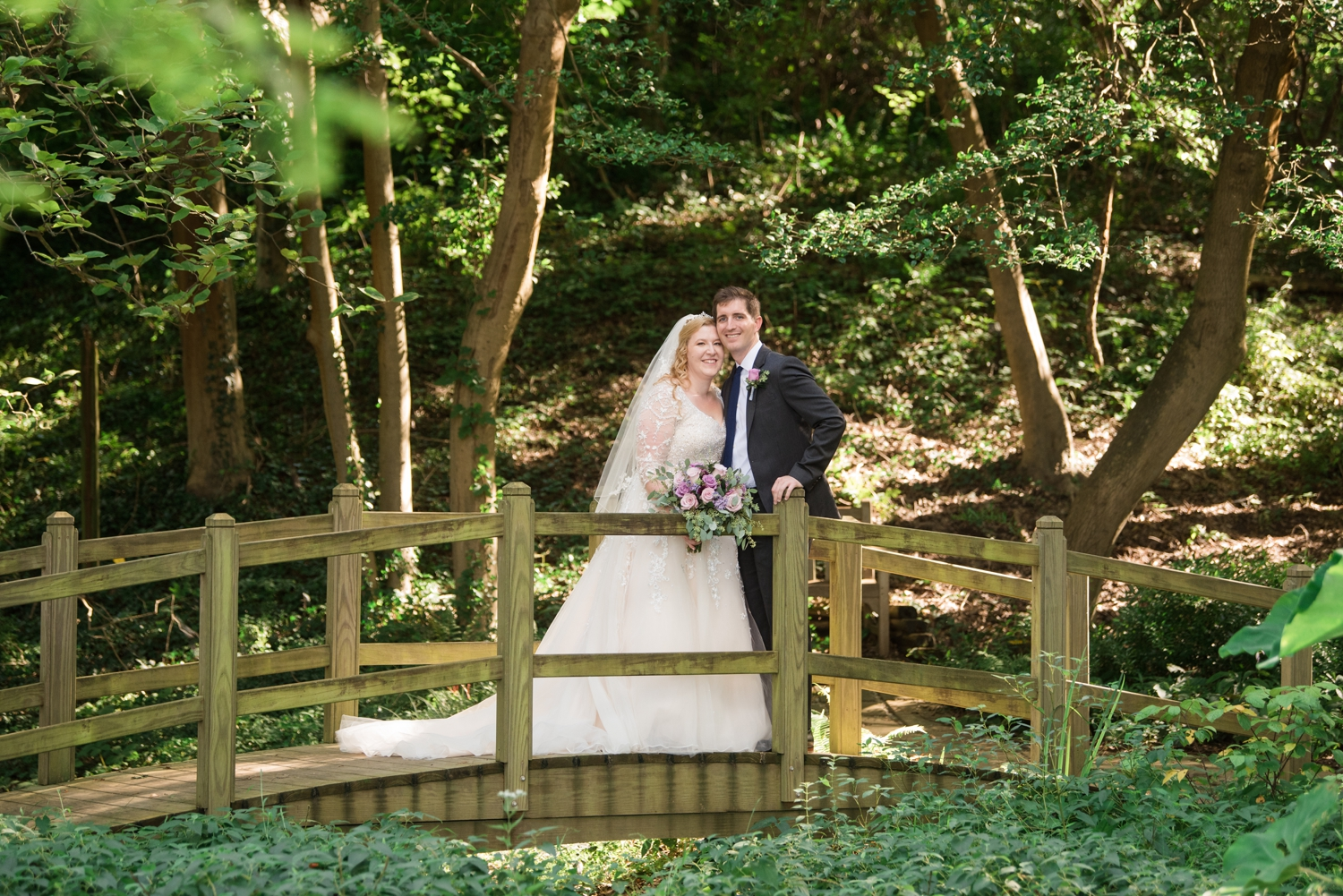 East Coast Micro wedding photography in Woodland garden London Town