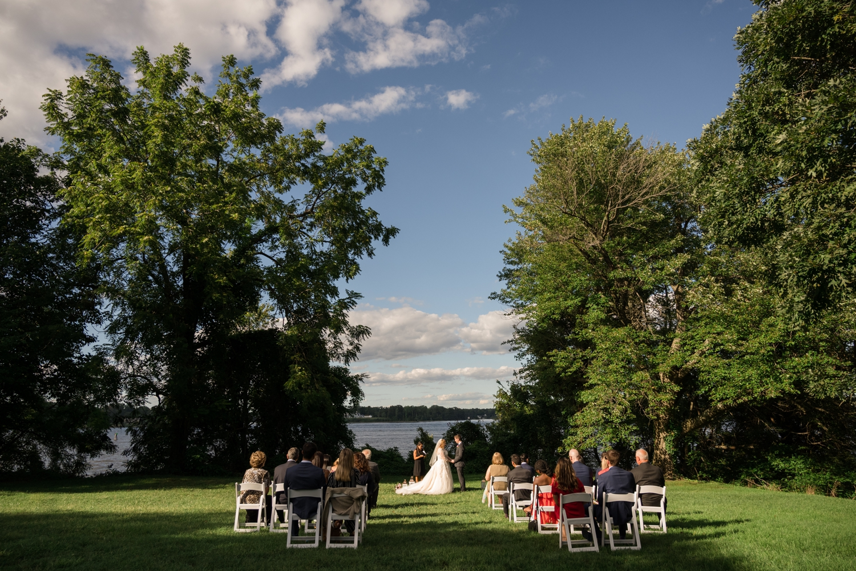 London Town Gardens Micro wedding ceremony