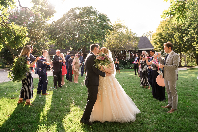 Maryland garden Micro wedding ceremony