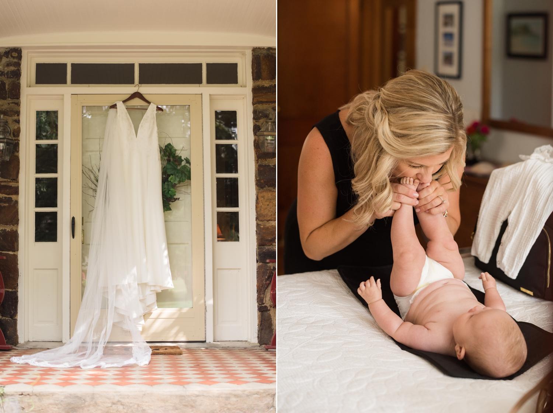 Annapolis bride and daughter mini wedding
