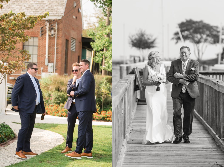 Annapolis Maritime museum mini wedding ceremony