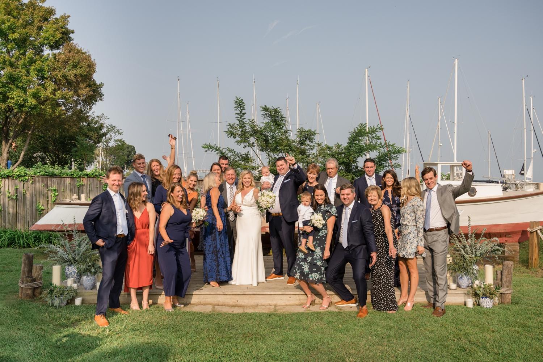 Annapolis Maritime museum mini wedding celebration