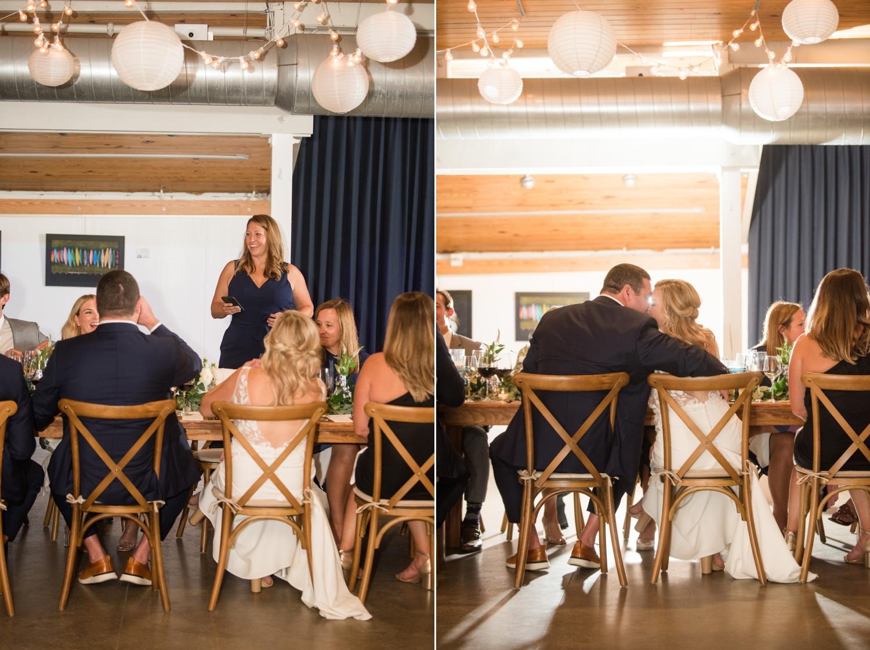 Annapolis Maritime museum micro wedding reception
