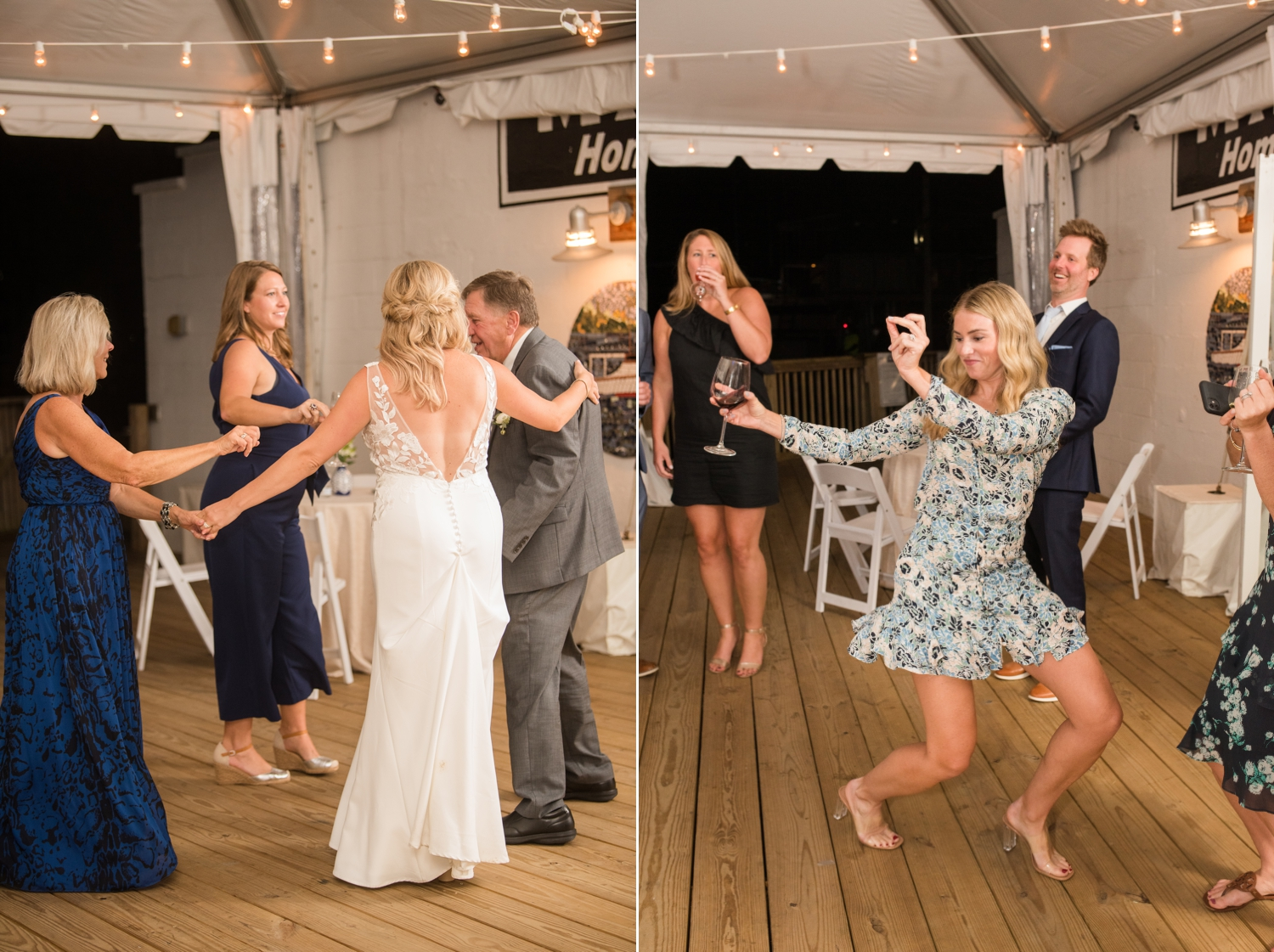Annapolis Maritime museum micro wedding reception dancing