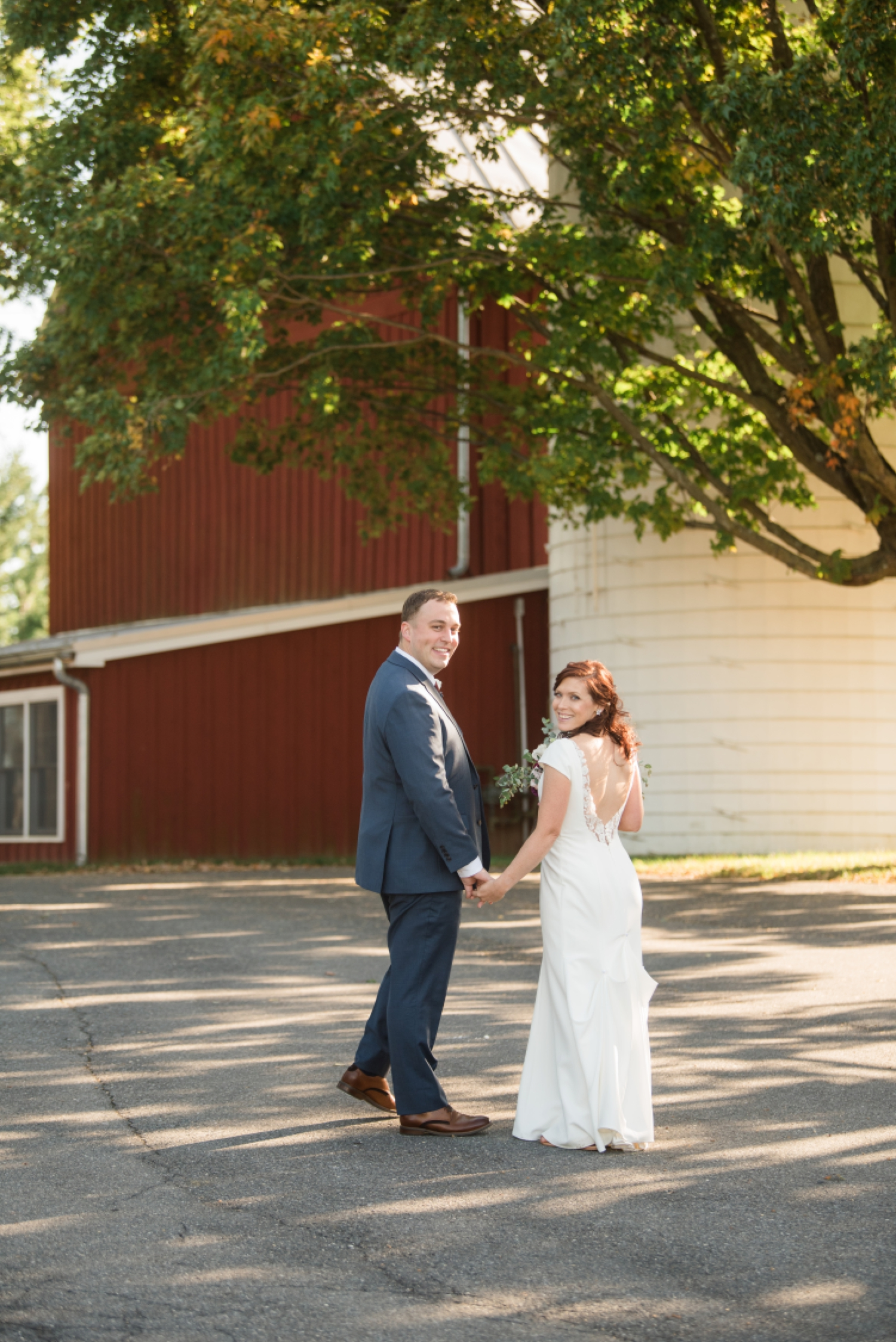 Tusculum Farm micro wedding with red barns