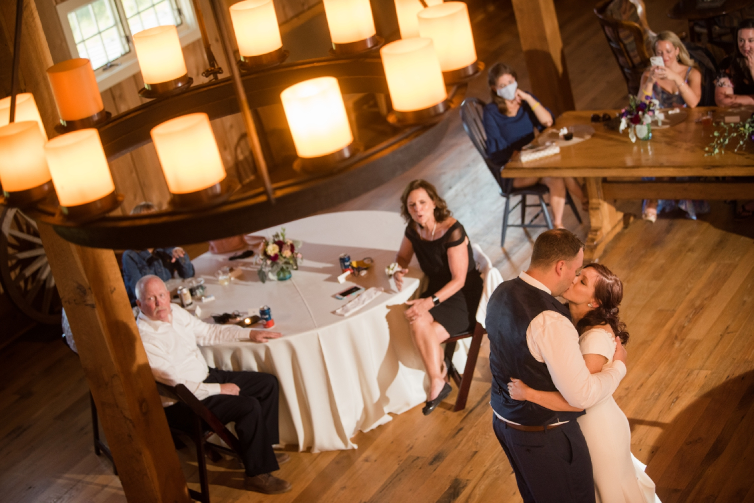 Tusculum Farm micro wedding reception in the Barn