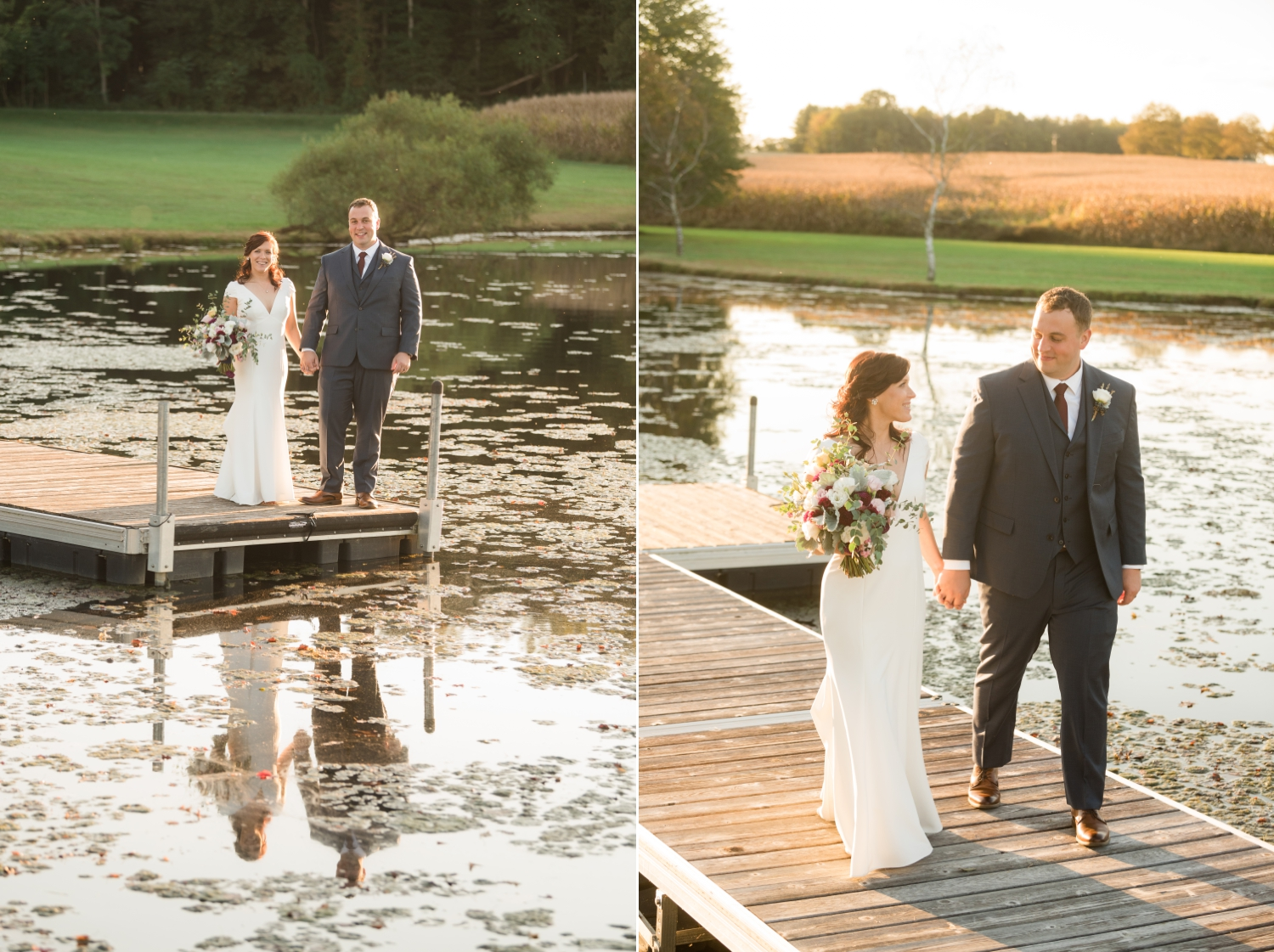 Tusculum Farm pond wedding photos