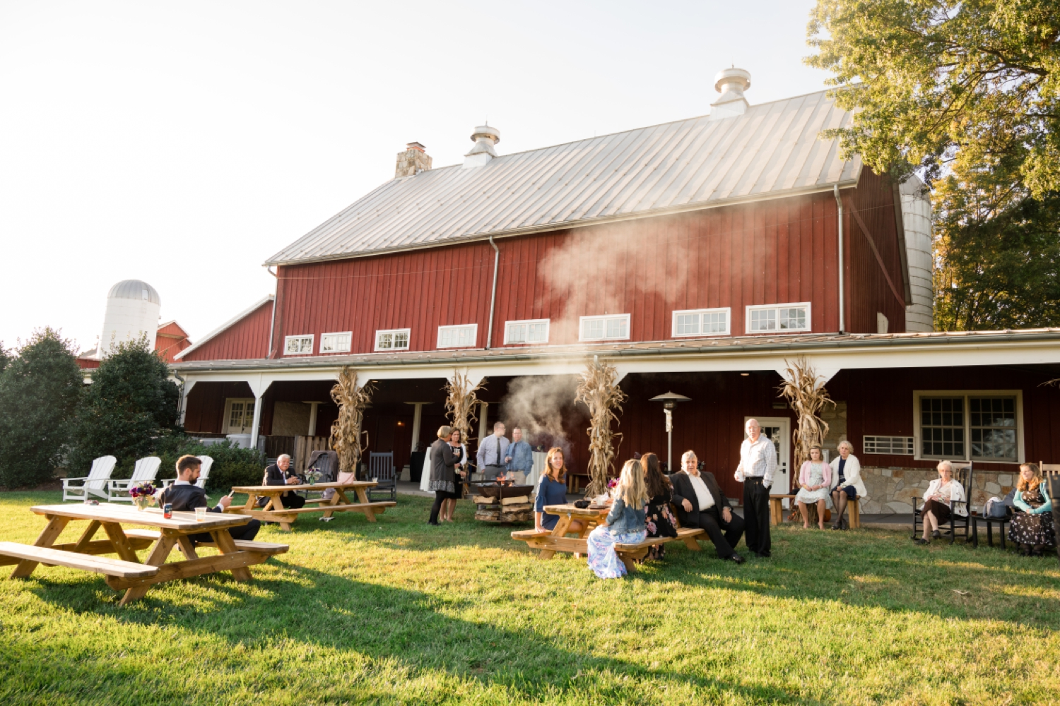 Tusculum Farm outdoor barn wedding reception