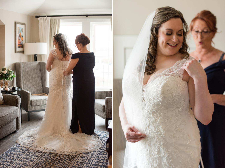 Eastern shore micro wedding bridal portraits