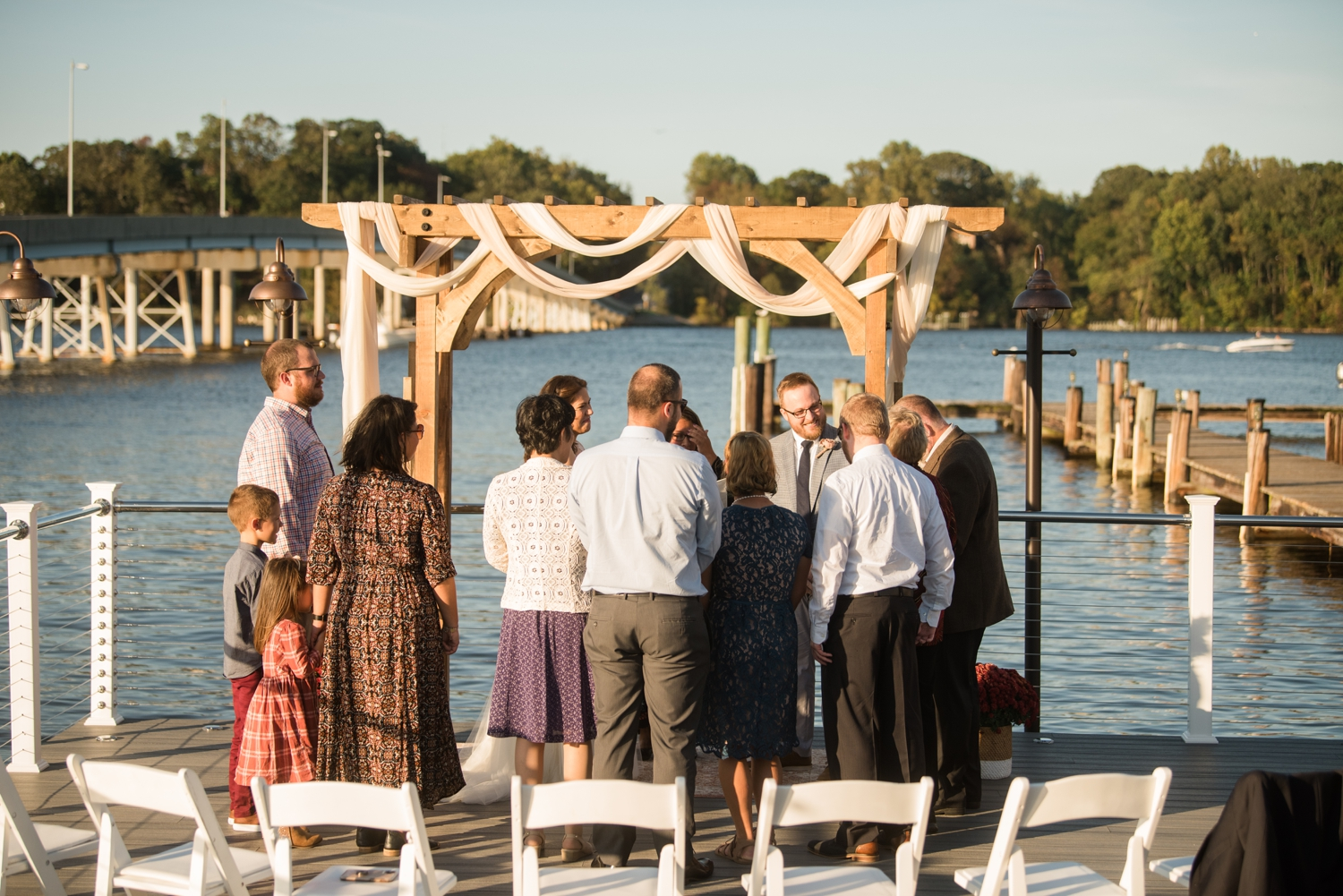 Michael's on the South River Elopement ceremony