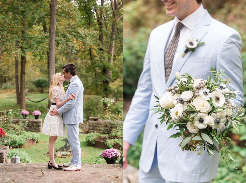 Cockeysville Micro wedding grooms light blue seersucker suit