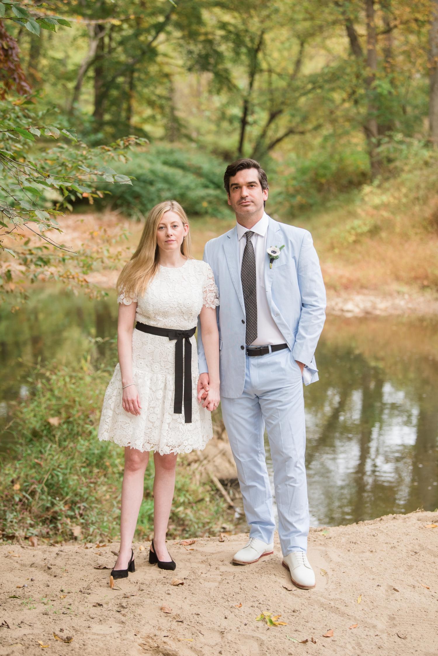 Baltimore Micro wedding couple photos at private home