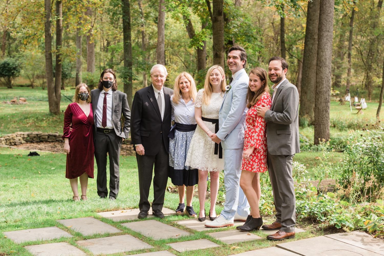 Baltimore Micro wedding family photos at private home