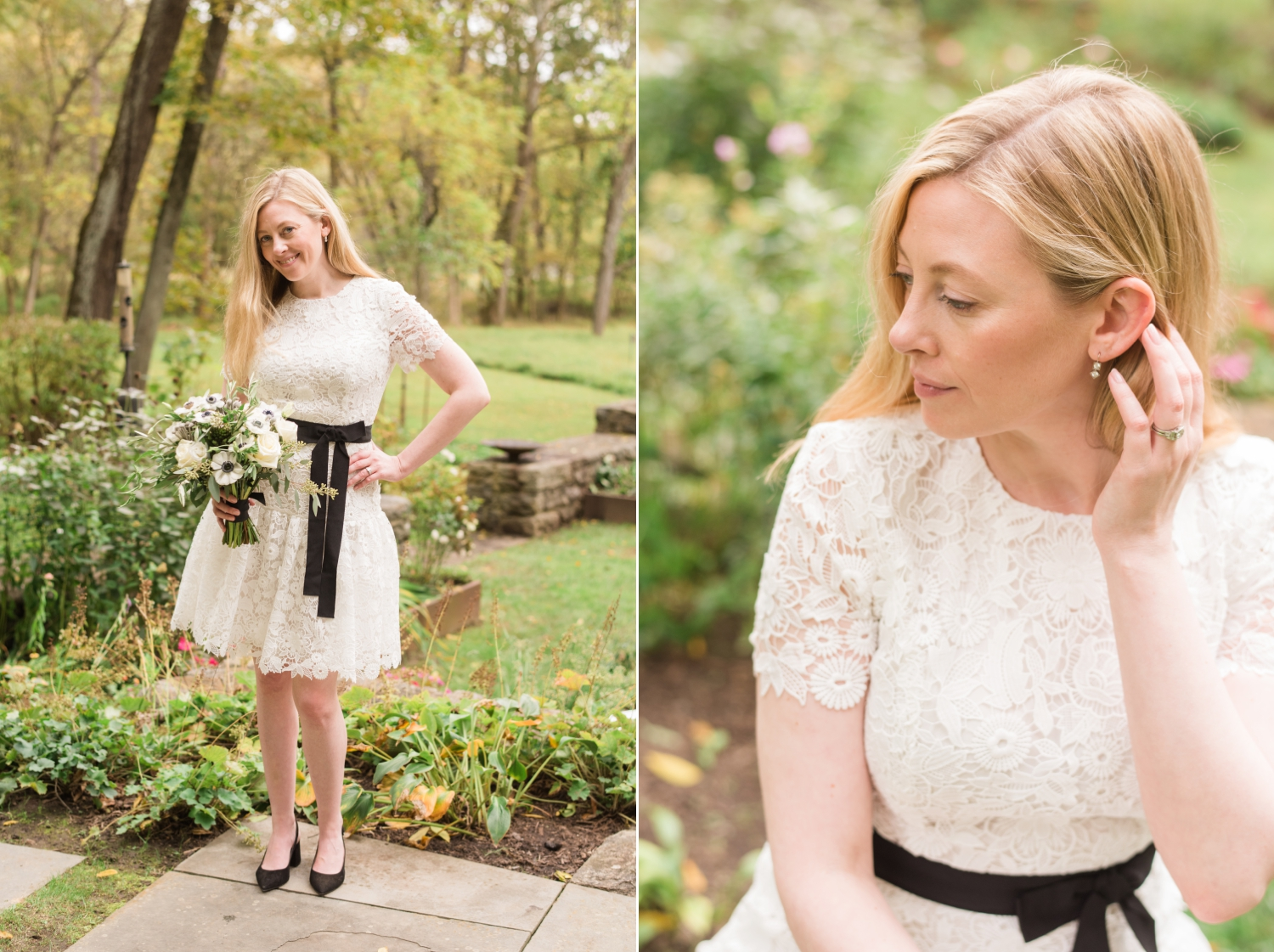 short ivory bridal dress for a micro wedding