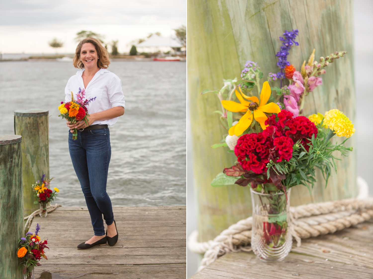 Annapolis elopement on the docks of Annapolis Maritime museum