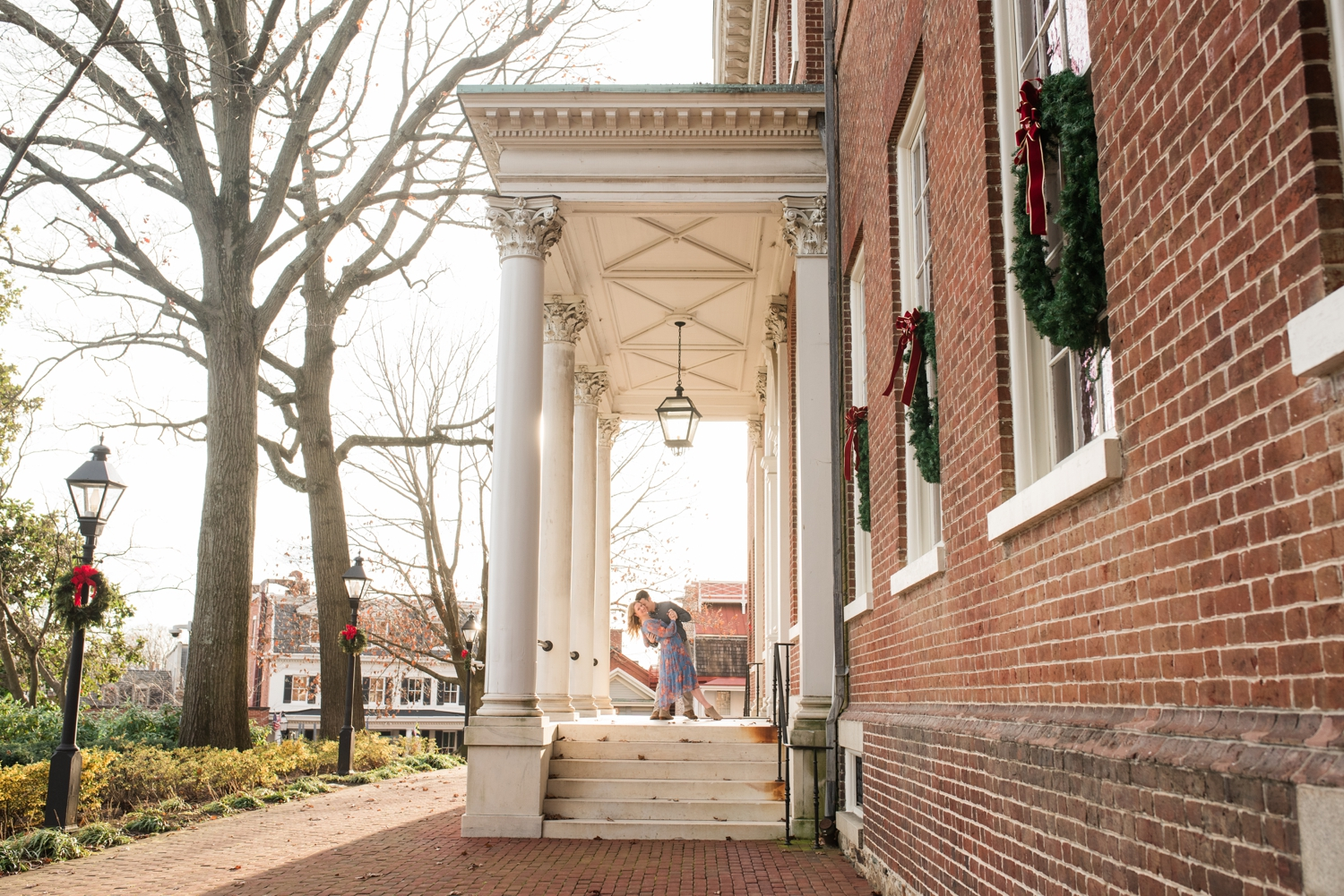 Winter holiday Annapolis Engagement Photos