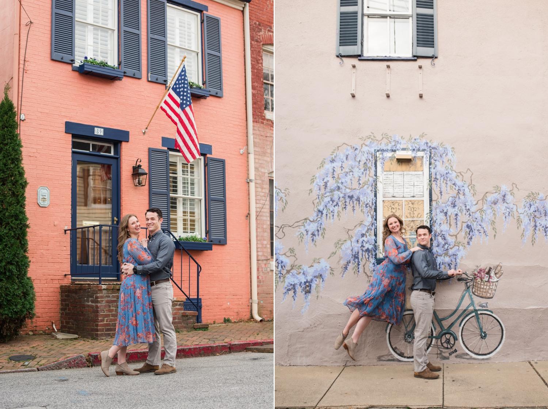 Winter Annapolis Engagement Photos
