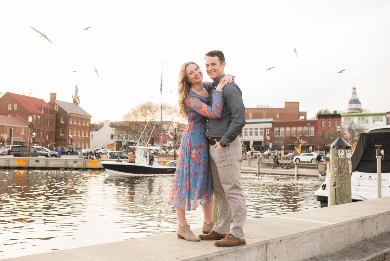 City Dock annapolis engagement session