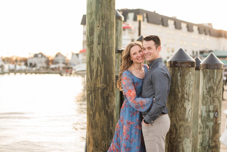 City Dock annapolis engagement photo session