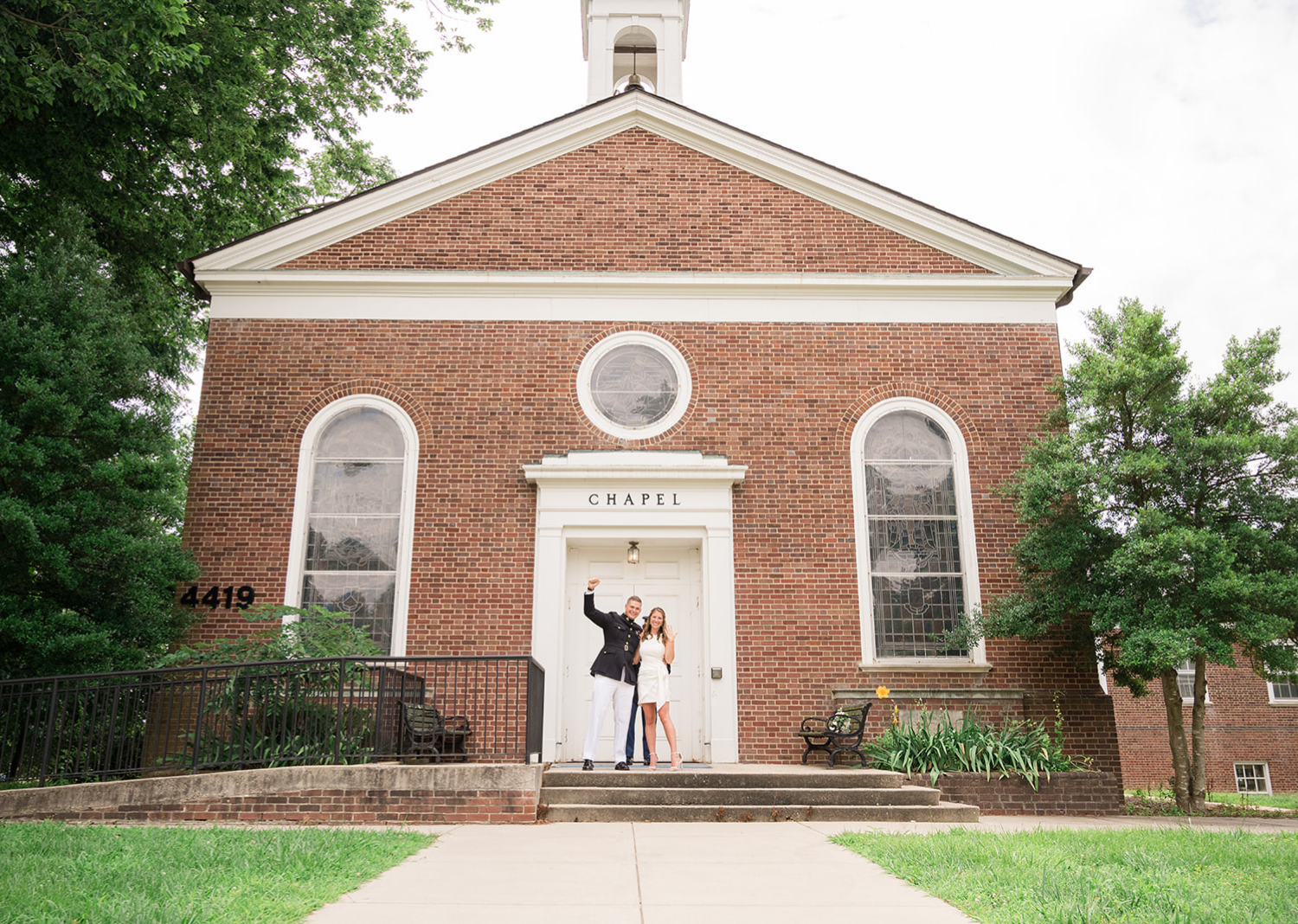 bride and groom celebrate their elopement