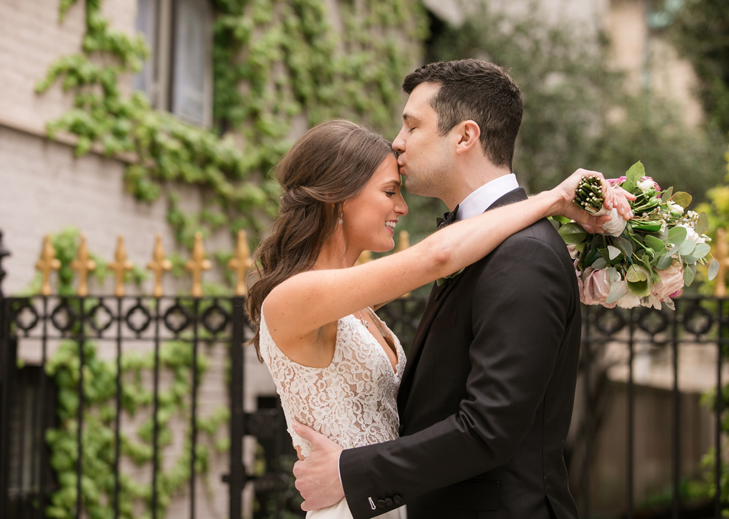 bride and groom wedding day portraits in Baltimore