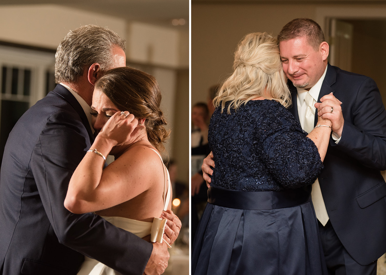 bride and groom dance with their parents