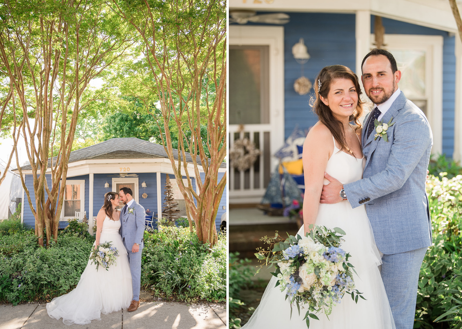 bride and groom outdoor wedding portraits before the ceremony