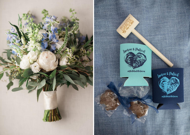 brides bouquet and wedding details