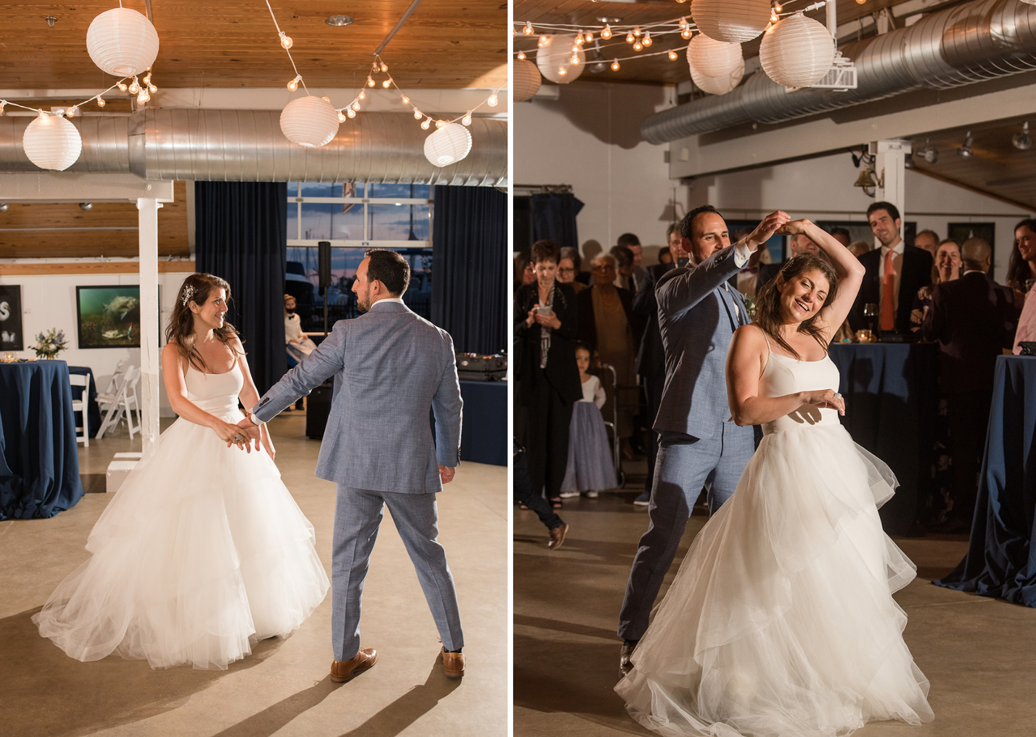 bride and groom share their first dance!