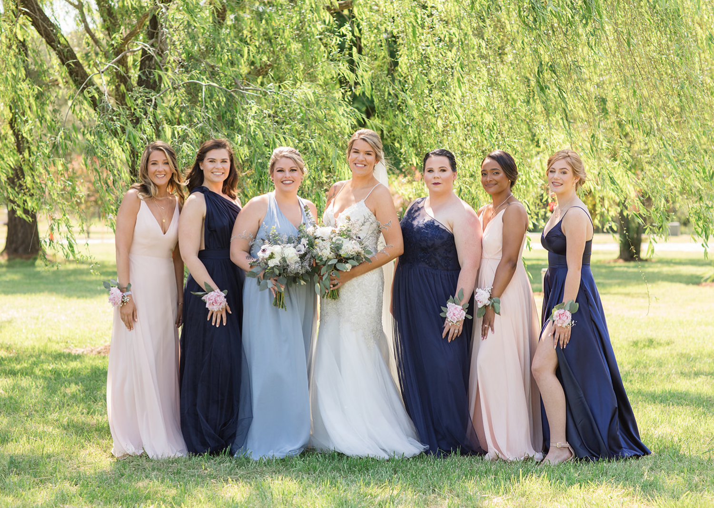 bridal party outdoor portraits
