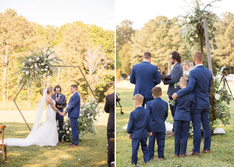 wedding ceremony portraits