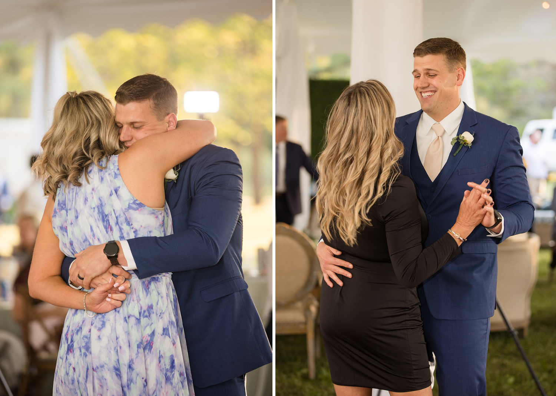 groom dancing with his family members