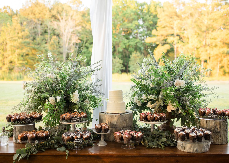 wedding dessert table decoration
