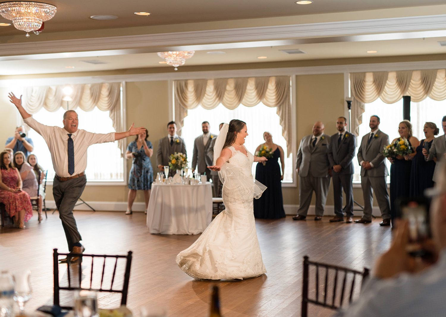 bride and father during the father daughter wedding dance